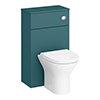 Arezzo 500 Matt Green WC Unit with Cistern + Modern Pan profile small image view 1