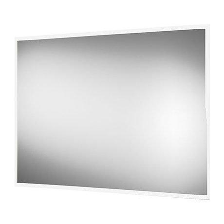 Arezzo 800 x 600mm LED Illuminated Bathroom Mirror with Shaver Socket & Anti-Fog