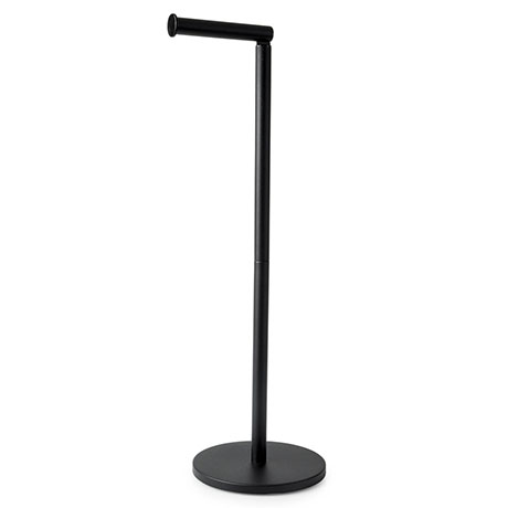 Arezzo Black Free Standing Toilet Roll Holder