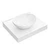 Arezzo Stone Resin Floating Basin Shelf inc. Oval Basin - 600mm Wide profile small image view 1