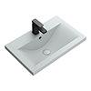 Arezzo 610 x 395mm Matt Grey Rectangular Mid-Edged Inset Basin profile small image view 1