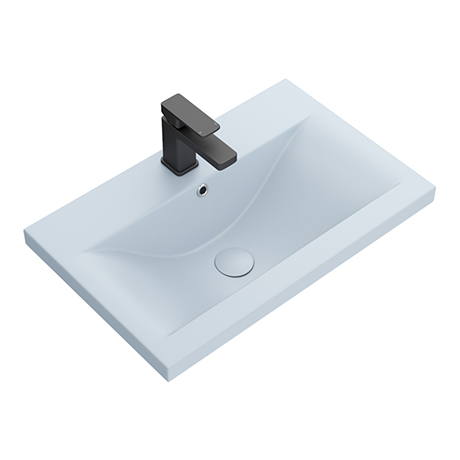 Arezzo 610 x 395mm Matt Blue Rectangular Mid-Edged Inset Basin