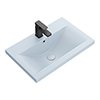 Arezzo 610 x 395mm Matt Blue Rectangular Mid-Edged Inset Basin profile small image view 1