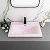 Arezzo 610 x 395mm Matt Pink Rectangular Mid-Edged Inset Basin profile small image view 1