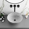 Arezzo Round 410mm Silver Mottled Design Ceramic Counter Top Basin profile small image view 1
