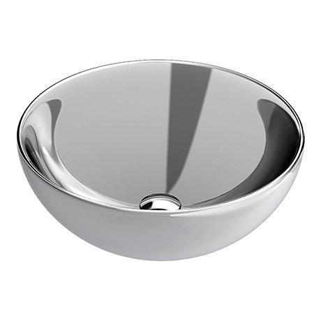 Arezzo Round 415mm Silver Ceramic Counter Top Basin