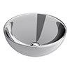 Arezzo Round 415mm Silver Ceramic Counter Top Basin profile small image view 1