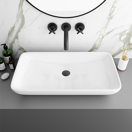 Arezzo 705 x 385mm Modern Large Counter Top 0TH Basin