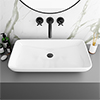 Arezzo 705 x 385mm Modern Large Counter Top 0TH Basin profile small image view 1
