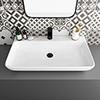 Arezzo 815 x 470mm Modern Large Counter Top 1TH Basin - No Overflow profile small image view 1