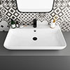 Arezzo 815 x 470mm Modern Large Counter Top 1TH Basin profile small image view 1