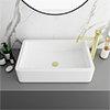 Arezzo 600 x 390mm Gloss White Rectangular Counter Top Basin profile small image view 1