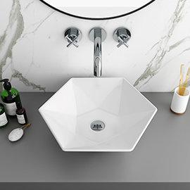 Arezzo 480 x 415mm Hexagon Shaped Modern Counter Top Basin