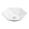 Arezzo 480 x 415mm Hexagon Shaped Modern Counter Top Basin profile small image view 1