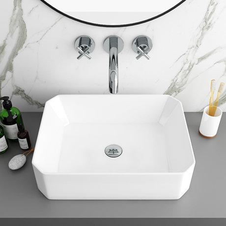 Arezzo 500 x 365mm Slim 8-Sided Rectangular Counter Top Basin