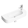 Arezzo 710 x 275mm Curved Wall Hung 1TH Basin profile small image view 1