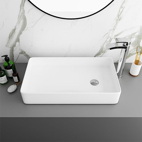 Arezzo 612 x 346mm Modern Rectangular Counter Top Basin