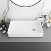 Arezzo 612 x 346mm Modern Rectangular Counter Top Basin profile small image view 1