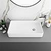Arezzo 612 x 346mm Modern Rectangular Counter Top Basin profile small image view 1