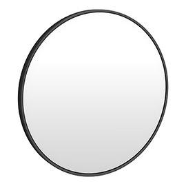 Arezzo Matt Black 700mm Round Mirror