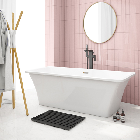 Arezzo 1700 x 750 Modern Square Roll Top Bath