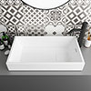 Arezzo 710 x 405mm Modern Large Rectangular Counter Top Basin with Hidden Waste Cover profile small image view 1