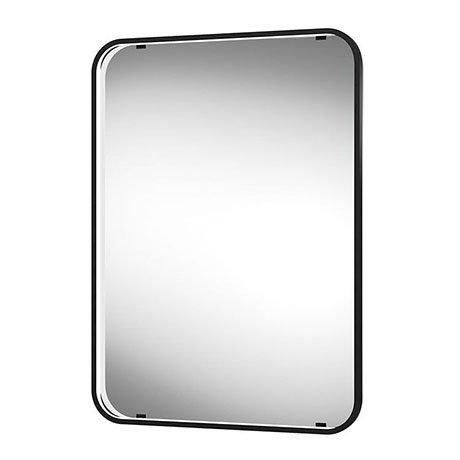 Arezzo Matt Black 500 x 700mm Rectangular LED Illuminated Bathroom Mirror with Infrared Sensor & Ant