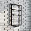 Arezzo Matt Black 800 x 500 Ladder Heated Towel Rail profile small image view 1