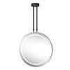 Arezzo Matt Black 600mm Hanging LED Illuminated Bathroom Mirror with Infrared Sensor & Anti-Fog profile small image view 1