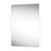 Arezzo 700 x 500mm Ultra Slim LED Illuminated Bathroom Mirror with Anti-Fog profile small image view 1