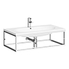 Arezzo 900 Wall Hung Basin with Chrome Towel Rail Frame profile small image view 1