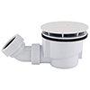 Arezzo Matt White 90mm High Flow Shower Tray Waste profile small image view 1