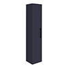 Arezzo Wall Hung Tall Storage Cabinet - Matt Blue - with Industrial Style Black Handle profile small image view 1