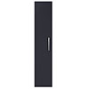 Arezzo Matt Blue Wall Hung Tall Storage Cabinet with Chrome Handle profile small image view 1