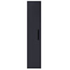 Arezzo Matt Blue Wall Hung Tall Storage Cabinet with Matt Black Handle profile small image view 1