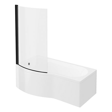 Arezzo B-Shaped Shower Bath (1700mm with Screen + Front Panel)