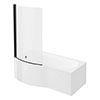 Arezzo B-Shaped Shower Bath (1700mm with Screen + Front Panel) profile small image view 1