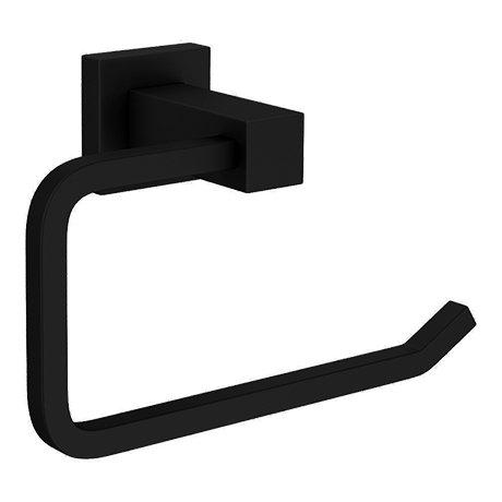 Arezzo Matt Black Square Toilet Roll Holder