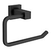 Arezzo Matt Black Square Toilet Roll Holder profile small image view 1