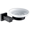 Arezzo Matt Black Soap Dish & Holder profile small image view 1