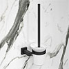 Arezzo Matt Black Toilet Brush & Holder profile small image view 1