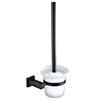 Arezzo Matt Black Toilet Brush & Holder profile small image view 1