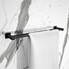 Arezzo Matt Black Modern Double Towel Rail profile small image view 1