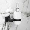 Arezzo Matt Black Soap Dispenser & Holder profile small image view 1