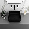 Arezzo 380 x 380mm Matt Black Square Counter Top Basin profile small image view 1