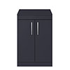 Arezzo 600 Matt Blue Floor Standing Vanity Unit with Worktop + Chrome Handles profile small image view 1