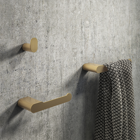 Arezzo Brushed Brass 3-Piece Bathroom Accessory Pack
