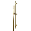 Arezzo Brushed Brass Modern Slide Rail Kit with Pencil Shower Handset profile small image view 1