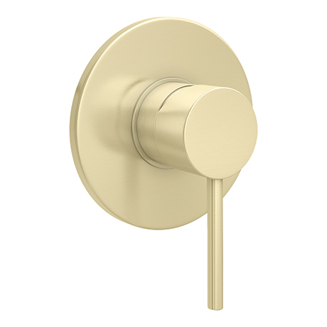 Arezzo Brushed Brass Round Concealed Manual Shower Valve