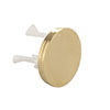 Arezzo Brushed Brass Decorative Overflow Cover profile small image view 1